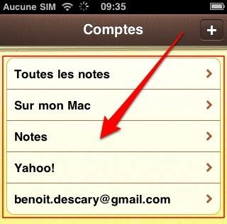iPhone iOS4 : comment synchroniser l'application Notes