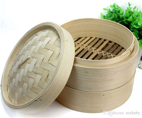 2020 2 Layer Chinese Bamboo Steamer Steamed Buns Dim Sum