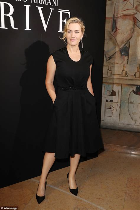 Kate Winslet gets a warm welcome from Giorgio Armani