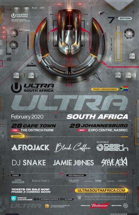 Ultra South Africa 2020: Phase one line-up announced