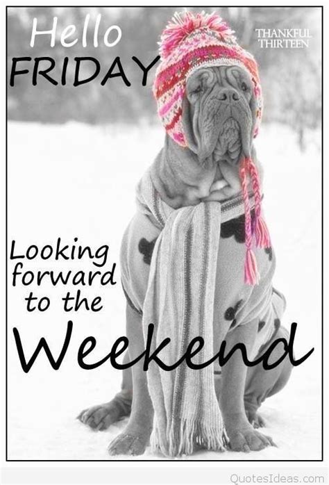 Hello Friday, hello Weekend quotes, sayings cards