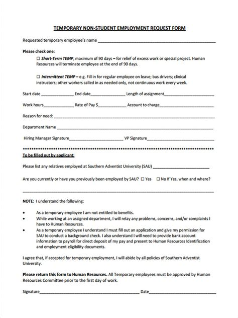 FREE 49+ Sample Employee Request Forms in PDF | MS Word