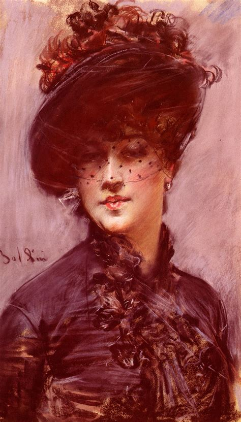 Lady with a Black Hat - Giovanni Boldini - WikiArt