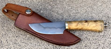 Couteau artisanal fixe d'Anthony Brochier