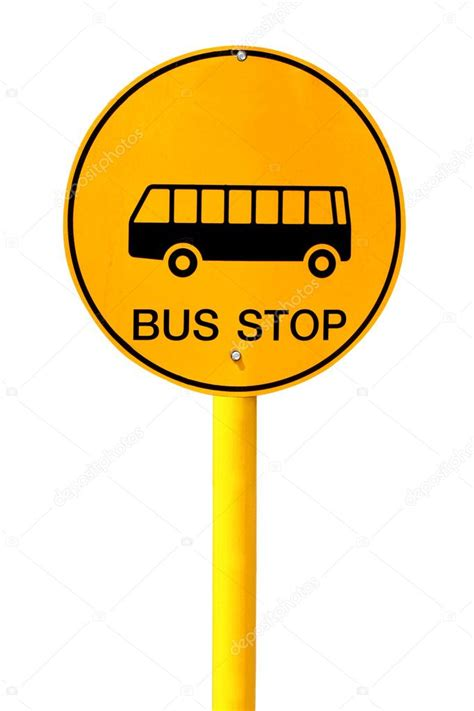 Bus stop sign on white background — Stock Photo #28984927