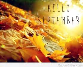 Hello September quotes with covers wallpapers
