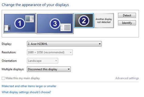 """windows 7 - """"Another display not detected"""" but is detected"""