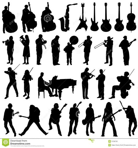 Collection Of Musician And Music Object Vector Royalty