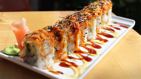 Eye Doctor Roll - Crispy shrimp and avocado topped with