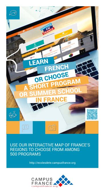 Flyer Learn French or choose a short program or summer