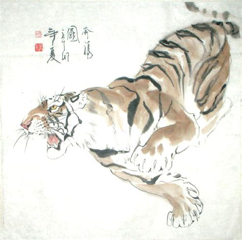 Chinese Painting: Tiger - Chinese Painting CNAG235015